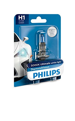 philips h1 12258 diamond vision headlight bulb (12v, 55w) Philips H1 12258 Diamond Vision Headlight Bulb (12V, 55W) 41oTqtPUFvL