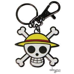 One Piece Skull head porte-clés Original et Officiel