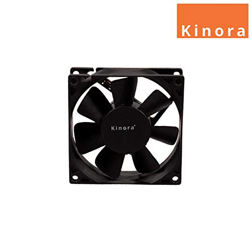 Kinora DC 12V Cooling Fan for PC Case, CPU Cooler Radiator (Black)