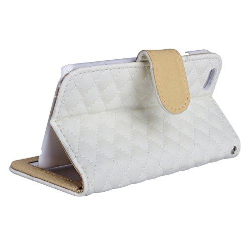 iPhone Case Cover AA00355 Pour iPhone 7 Diamond Textile Textile Horizontale Flip étui de protection en cuir avec Holder & Card Slots & Wallet & Photo Frame ( Color : White ) White