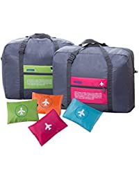 AB SALES Polyester 32 L Waterproof Foldable 2 Piece Travel Storage Luggage Shoulder Flight Bag with 4 Colours
