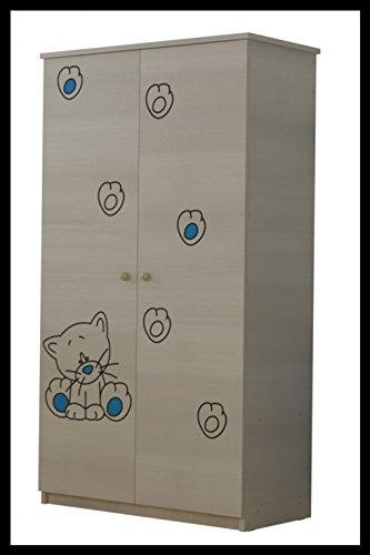Imagen para 5pcs juego de muebles de bebé–Cuna + Colchón + armario + pecho de cajones + caja de juguetes (modelo 5)