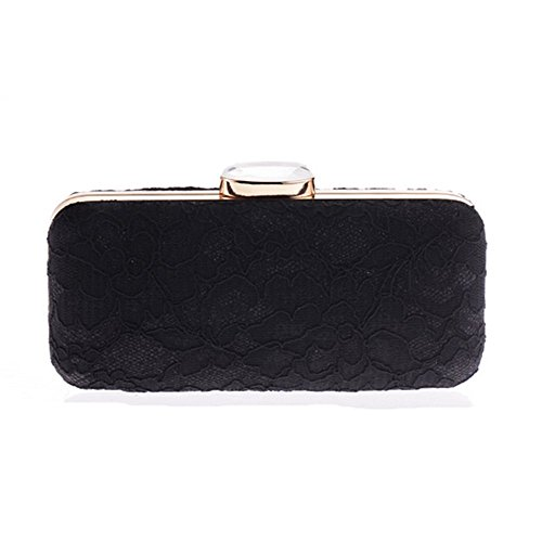 Eysee, Poschette giorno donna nero Apricot 18cm*8cm*6cm Black