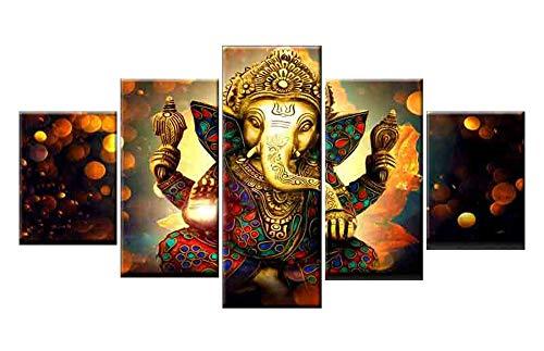 Wandbild - Aufkleber - Ganesha Bild Von High Definition Leinwand Kunstwerk - Ölgemälde Stil Bild - Foto Auf Leinwand - Wandkunst Für Wohnzimmer Home Dekorationen (Rahmenlos) Great Faith - 2 Größe Zur Auswahl,L(Frameless) - Ganesha-bild