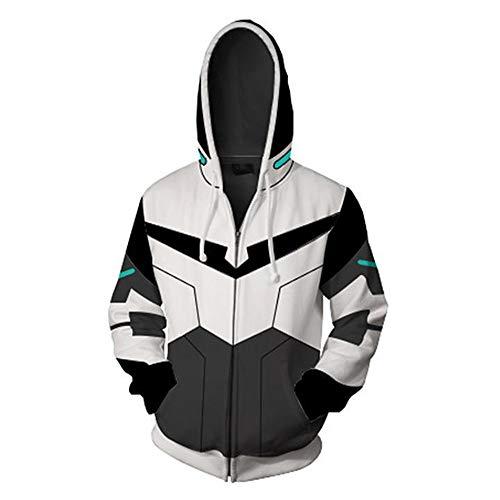 RJHWY 3D Hoodie Sweatshirt Unisex Pullover Kapuzenjacke Kleidung Mantel Reißverschluss Anime Top Voltron XXL