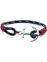 """TOM HOPE - Bracelet Unisexe Atlantic Red Tom Hope S Tm0041 - Argent - S): 16.5 cm - 18 cm / 6.5"""" - 7.1"""""""