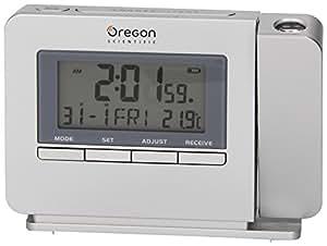 Réveil à projection avec température intérieure (argent) - TW223 - Oregon Scientific
