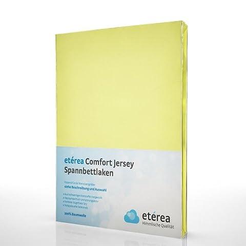 etérea Comfort Jersey Spannbettlaken - in viele Farben und alle Größen - 100% Baumwolle, Vanille 90x200 - 100x200