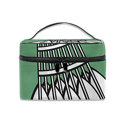 Damen tragbare Reise-Kosmetiktasche, multifunktionale tragbare Tasche, Finishing Bag-Cool Shuttlecock Badminton