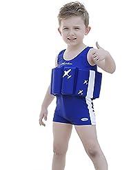 Las niñas bebé niños flotabilidad de baño Kids–Tabla de natación trajes, Infantil, azul real, 2 años