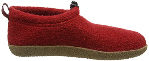 Giesswein Vent 52-10-47849, Chaussons mixte adulte Rouge