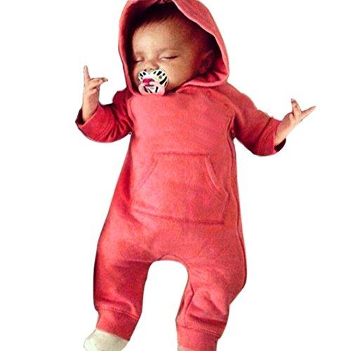Reißverschluss Strampelhöschen,Hirolan Gemütlich Pyjama Outfits Mode Kleinkind Säugling Baby Mädchen Junge Lange Hülse Overall Baumwolle Vermischt Unisex 0-24Months Baby Kleidung (70cm, (Gestreifte Kostüm Pyjamas)