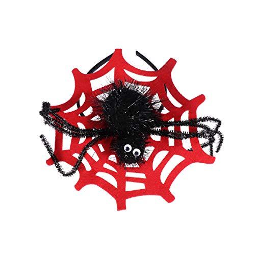 Amosfun Halloween Stirnband Großes Spinnennetz Haarband (Große Spinnennetze Halloween)