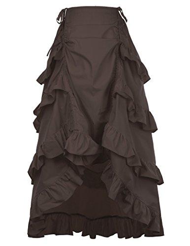 Disfraz de Renacimiento Medieval Victoriano Vestido Teatro María Antonieta Vestido de Gala M Café