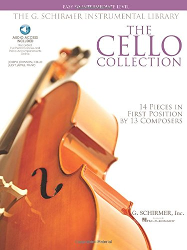The Cello Collection - Easy To Intermediate Level: G. Schirmer Instrumental Library (Book & Cd).