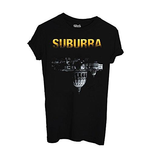 MUSH T-Shirt SUBURRA - Film by Dress Your Style Nera