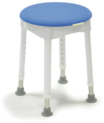 Runder Duschhocker mit Soft-Pad (47 Sitzfläche Runde)