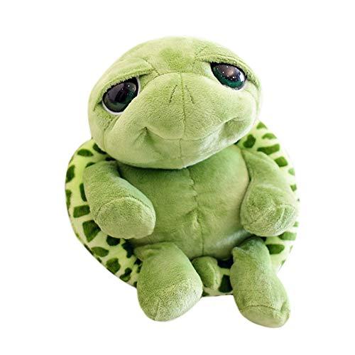 Hacoly, simpatica tartaruga dagli occhi grandi, giocattolo morbido, peluche, giocattolo per Natale, regalo di compleanno, 18 cm