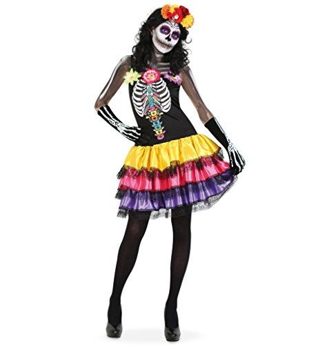 KarnevalsTeufel Damenkostüm Catrina Kleid Tag der Toten Dia de los Muertos Mexico Gr 34 - 40 ()