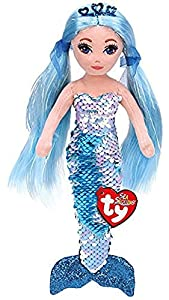Ty - Peluche de Lentejuelas Indigo la Sirena Azul, TY02302