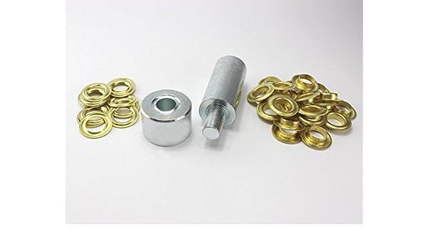 Einschlagstempel XXL 20mm 20 Ösen Messing Nickel rostfrei Ösenwerkzeug