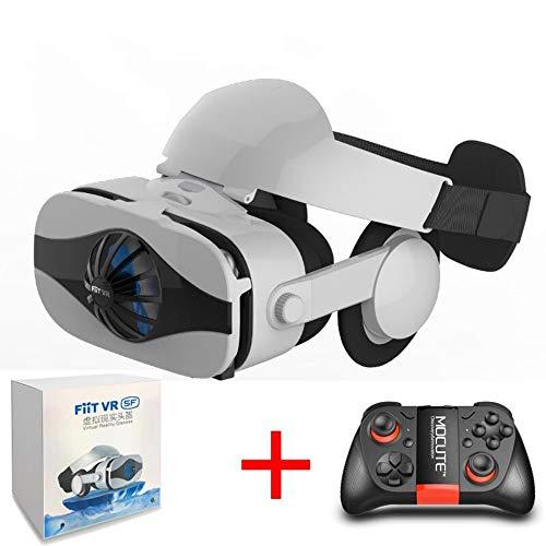 DJGHPWP VR 5F-Headset-Version Lüfter kühlen Virtual-Reality-Brillen 3D-Brillen Deluxe Edition-Helme Smartphone Optionaler Controller