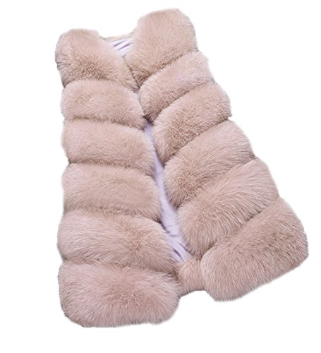 FOLOBE Womens 'Winter Warm Faux Pelz Weste Mantel Jacke (Echte Pelz-mäntel Für Frauen)