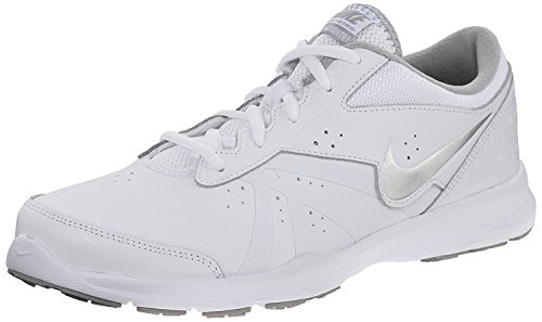 Nike Women's Core Motion TR 2 Cross Trainer Shoes, White/Metallic Silver/Flt Slvr, 40.5 B(M) EU/6.5 B(M) UK (Motion Crosstrainer)