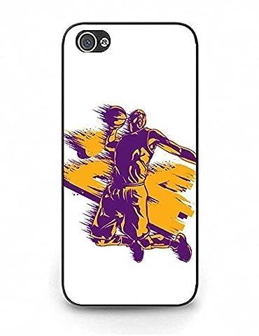 Cadeaux de Noël iPhone 5cas, qualité supérieure Kobe Bryant Logo Photo Ultra Coque hybride rigide en plastique pour iPhone 5S 8653874m648573018