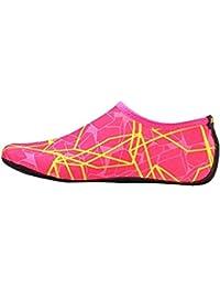 Goodsatar Calcetines del agua, Zapatos unisex de la piel del agua Baja arriba Buceo Buceo Calcetines de playa Buceo Calcetines de Snorkel Zapatos del fútbol del voleibol Para los deportes acuáticos Yoga (Rosa, EU:38-39)