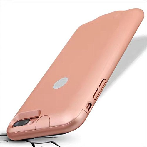Iphone7 Battery Case, CORST® Slim 2800 mAh batteria di backup caso batteria esterna Power Bank per Iphone7 Blau Rosa