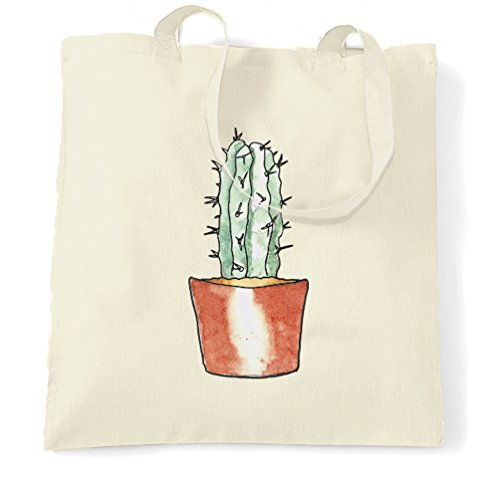 Cactus Pocket Stampa fredda Girly Pretty Cute disegno dolce Sacchetto Di Tote Natural