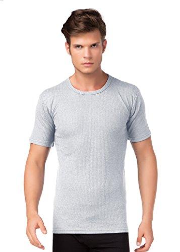 Thermo-Unterhemd Kurzarm T-Shirt Thermounterwäsche Angeraut wärmend stylenmore Farbe grau, Größe M