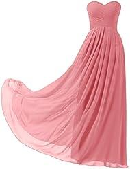Remedios A-Linie Chiffon Brautjungfernkleider ballkleid Abendkleider Lang