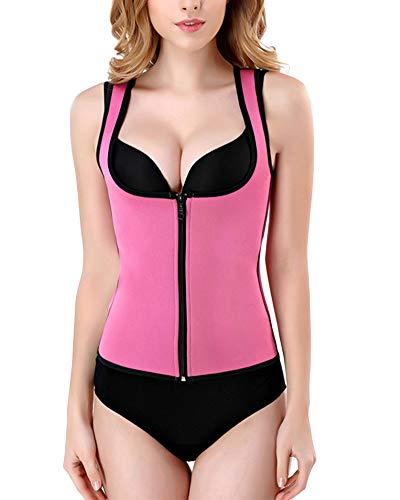 Donna body cerniera snellente aperto busto shapewear corsetto bustino shaper intimo modellante niente mutandine pink xl