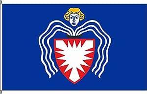 Tischfähnchen Bornhöved - Tischflaggenständer aus Chrom