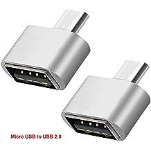 Lucklystar® Cavo Adattatore OTG, da micro USB a USB 2.0,da maschio a femmina, presa per Android Smartphone/Tablet con funzione OTG 2 PCS