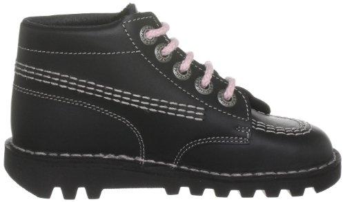 Kickers Core Classic, Jungen Laufschuhe Schwarz (Black/Pink)