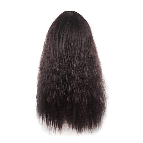 Leicht zu waschen & Care mit veränderbarer Länge Schönheit Mode für Frauen Dame Lange lockige Wavy Haar-volle Perücken für Cosplay Partei oder im täglichen Leben -
