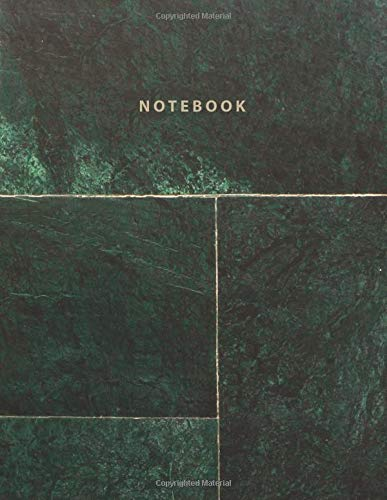Notebook: Beautiful green stone marble with gold lettering | 150 College-ruled lined pages 8.5 x 11 (Marble collection) por Paper Juice