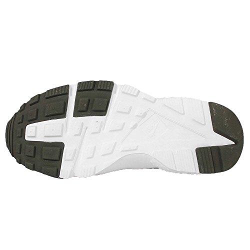 Nike - Huarache Run, Sneaker Unisex – Bambini Nero / Verde (Black / Grn Strk-Crg Khk-Mdm Olv)
