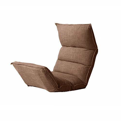 Lazy Sofa Collapsible Tuch-Kunst-einzelner Sofa-Stuhl-Wohnzimmer-Schlafzimmer-Balkon-Büro ( Farbe : Braun ) (Sofa-stuhl Für Schlafzimmer)