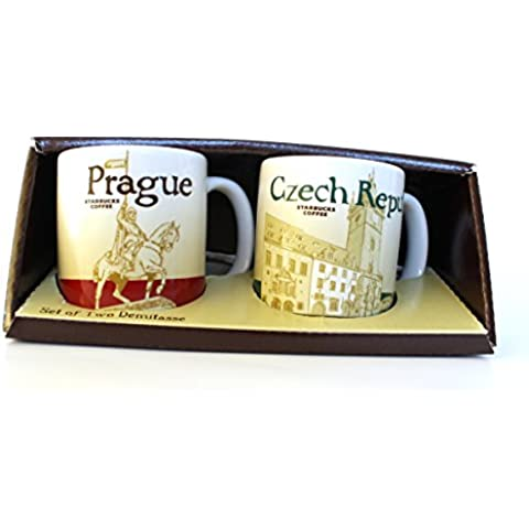 Starbucks City Mug Demi tazze Prague Praga Repubblica Ceca Espresso Set 2pezzi - Starbucks Tazze E Tazzine