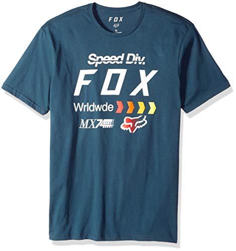 Fox Herren Murc Short Sleeve Premium T-Shirt, Navy, Klein - Fox Navy T-shirt
