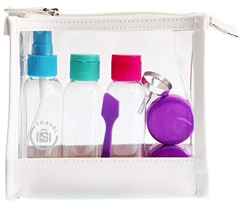 Reise-Set Kosmetex mit Behältern für Flüssigkeiten und Cremes, Travel-Set, Flugzeug, Handgepäck -