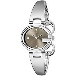 Gucci YA134503 - Reloj de cuarzo para mujer, con correa de acero inoxidable, color plateado