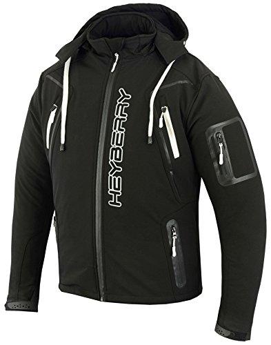 HEYBERRY Soft Shell Motorradjacke Textil Schwarz/Weiß Gr. 3XL