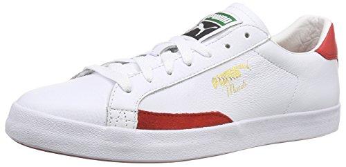 Puma Match Vulc Unisex-Erwachsene Sneakers Weiß (white-high risk red 18)