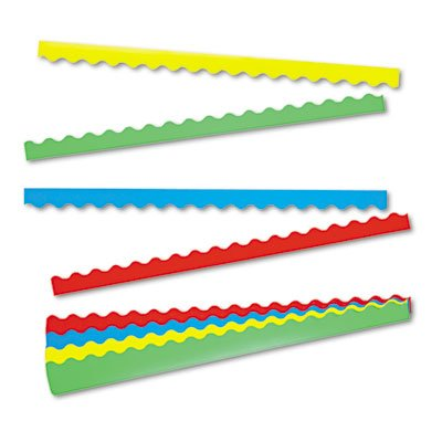 Solid Terrific Trimmers Variety Pack 2 1/4 in x 39 in 4 Assorted Colors 48 Borders per Pack by TREND - Terrific Trimmer Variety Pack