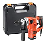 BLACK+DECKER KD1250K-QS Martello Demolitore e Scalpellatore con Accessori in Valigetta, 1250 W